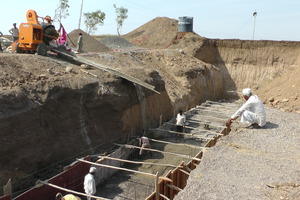 Construction of Nala Bandhara at Shirtav Village