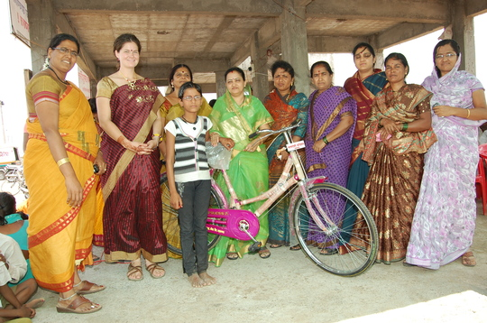 Mann Deshi Foundation donated bicycle to ASHA