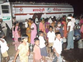 Providing water at camp