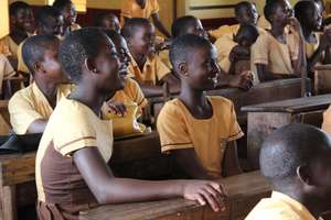 Smiling girls who will soon attend the Center!