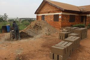 1st day of molding foundation concrete blocks