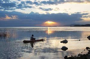 Lake Ziway at sunrise