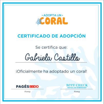 Adoption kit certificate