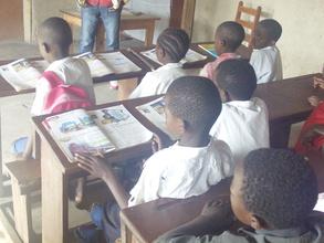 Children in classroom in children's voice center