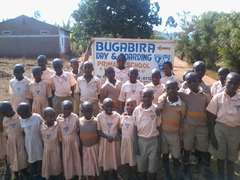 Happy children at school compound