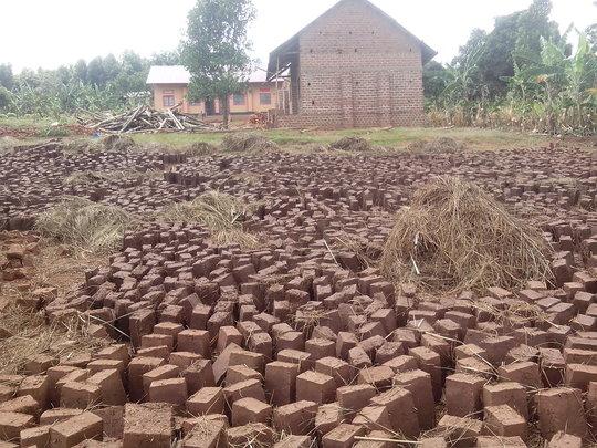 Bricks to finish the school building.