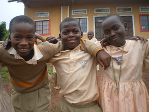 You supported us to complete primary school 2014.
