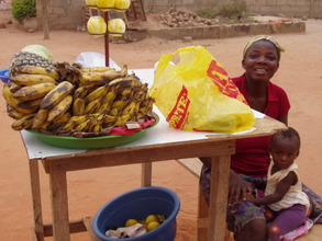 Doris uses her loan to sell fruit