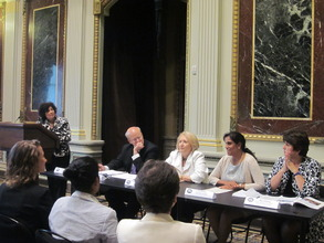 Ritu and other panelists speak at the White House