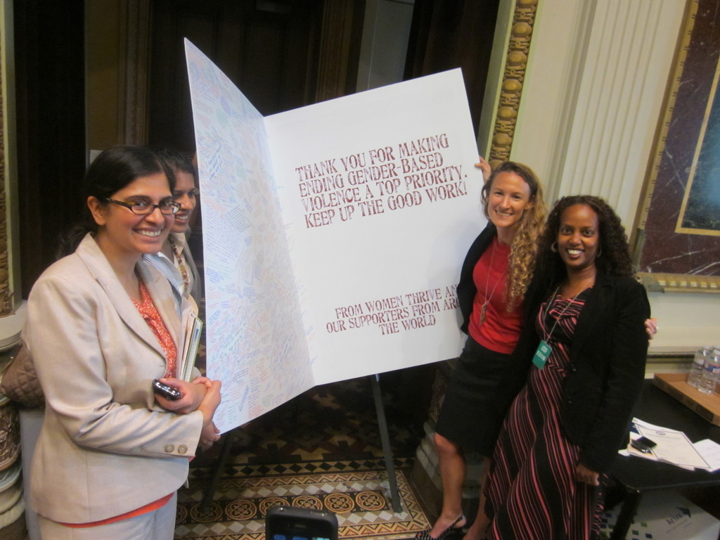 White House Guests with our Thank You card