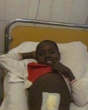 Cedric after his final examination for his surgery