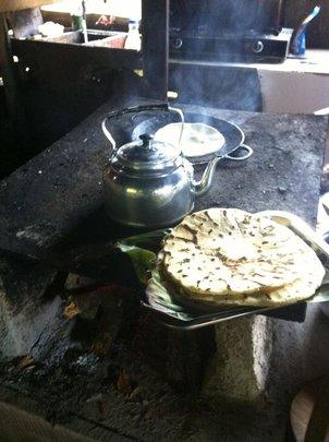 Hand made tortillas in Rancho Quemado