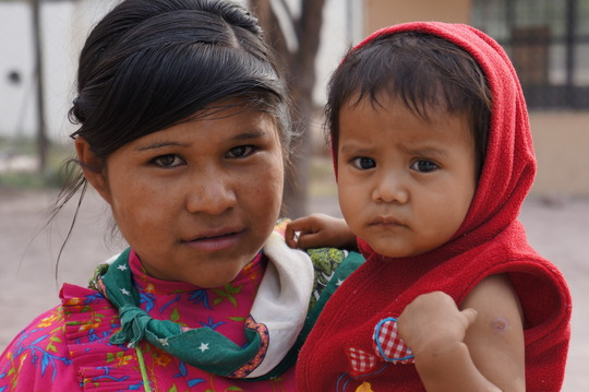 Tarahumara girl and infant