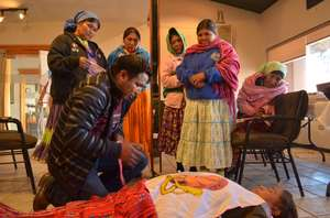 Carlos training Traditional Midwives in Guachochi