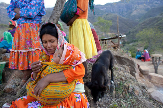 Young Tarahumara mother and baby