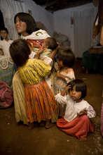 Tarahumara mother and children