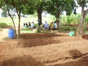 Meeting near a new Community Tree Nursery