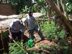 Moses maintaining our Namalemba Community Nursery