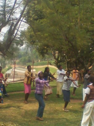 girls dancing after studying