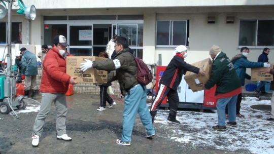 Delivering Relief Goods in Tohoku