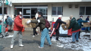 Delivering Relief Goods in Tohoku