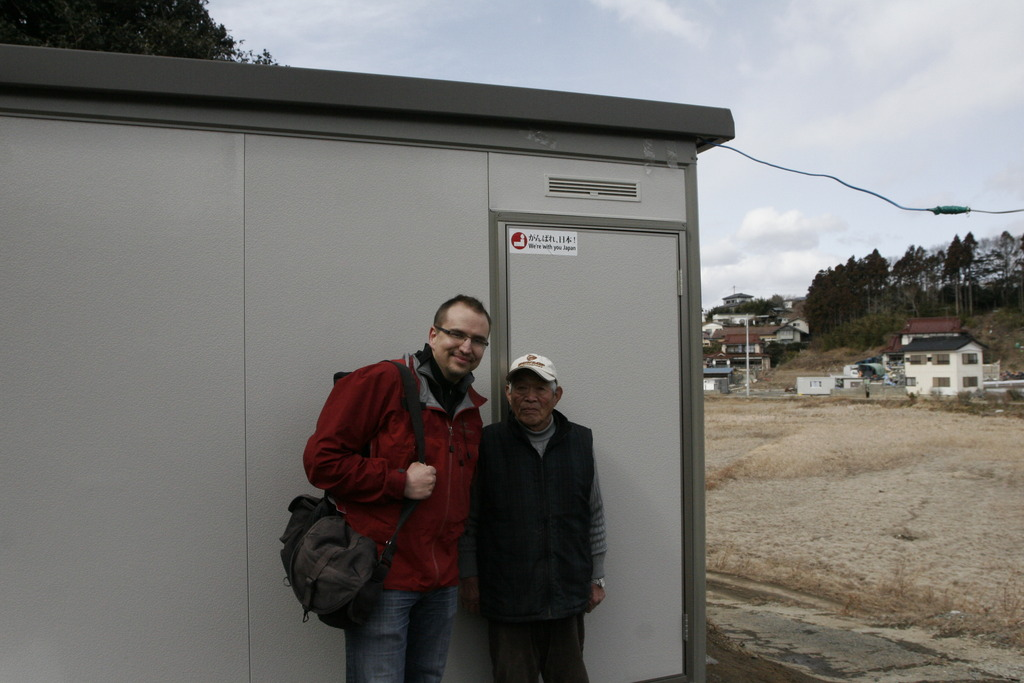 Miura-san and PWA Ben with his new shed