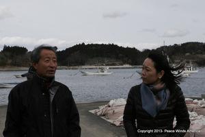 With Oikawa-san at Isatomae port
