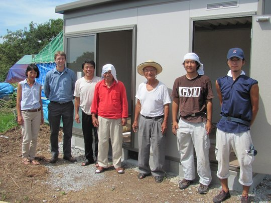 GMT, PWA, District Leaders and residents with shed