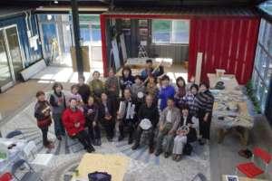A celebration at the community center
