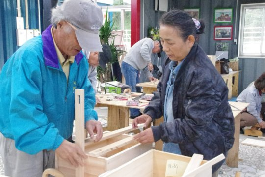 Woodworking is available to Minamisanriku seniors