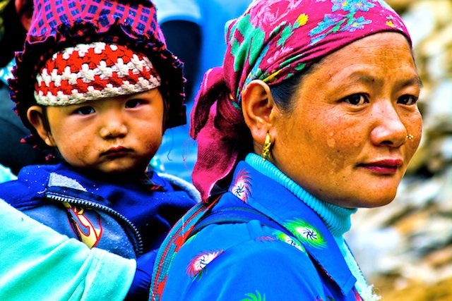 Nepalese Woman and Child