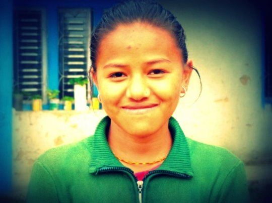 Maya, a student in Salleri