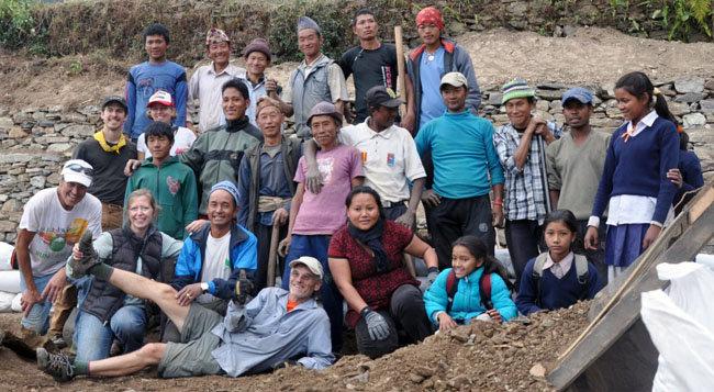 Volunteers and Community Members in Basa