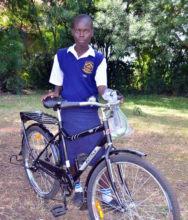 Cynthia with her new Buffalo Bicycle