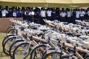 Bikes ready for distribution at Ndigwa Sec. School