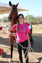 Katelyn with therapy horse Jewel