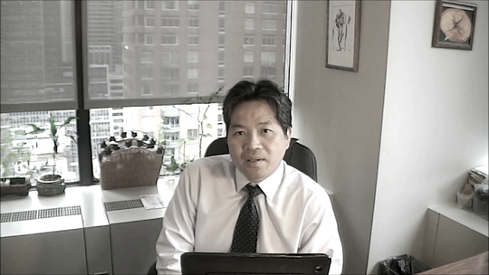 Dr. Chang recording a module