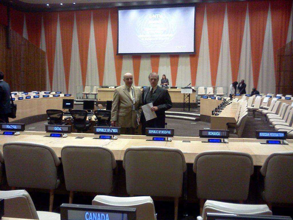Dr Hedberg at the U.N. - Disaster Survivor PTSD