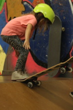 5 year old learning to drop in!