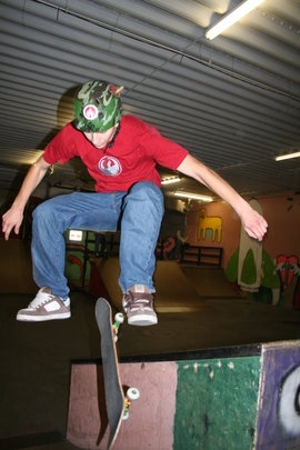 Skateboarder at JP