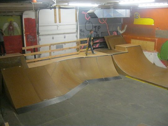 Ramps at the JP Skate Park