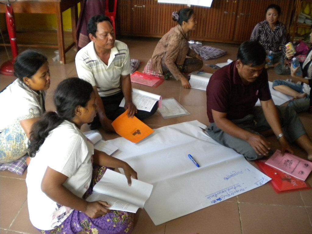 Parents at Micro-Enterprise Development Training