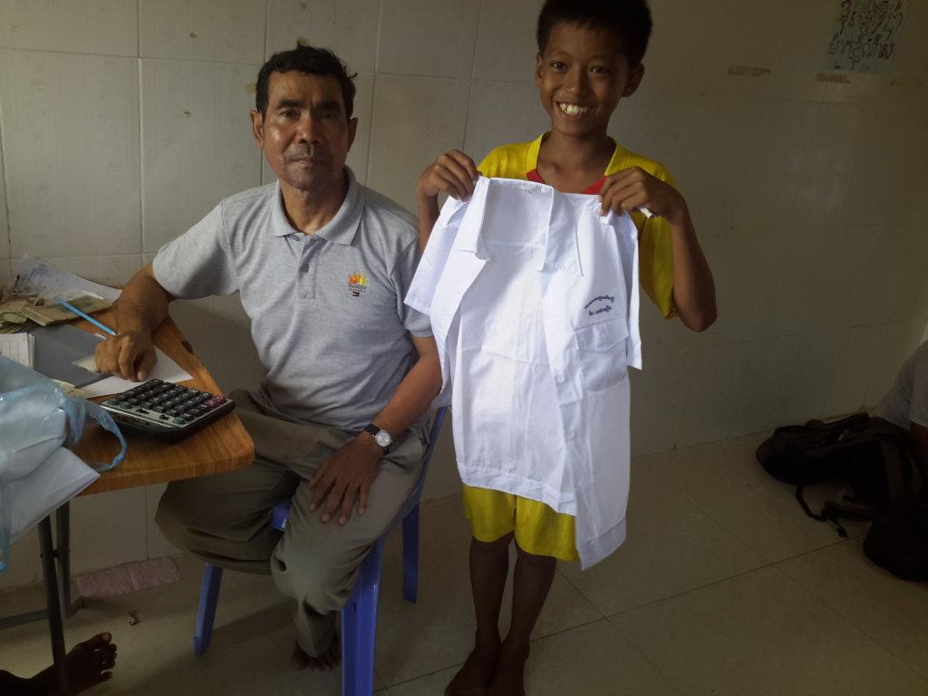 Child with New School Uniform