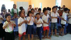 Children enjoy singing