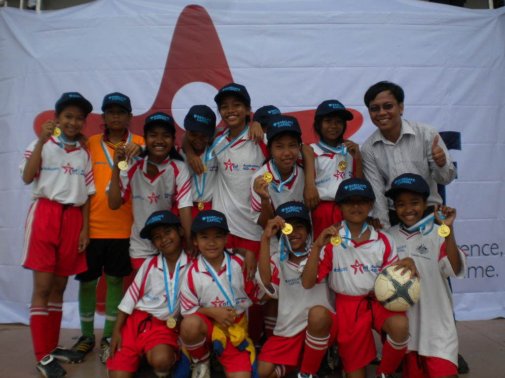 Raksmey and other SC kids got medals.