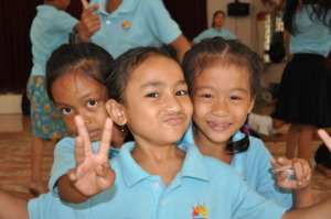 natural smile of girls @ Children Clubs