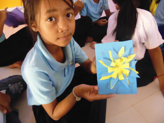 Girl showing her creative craft