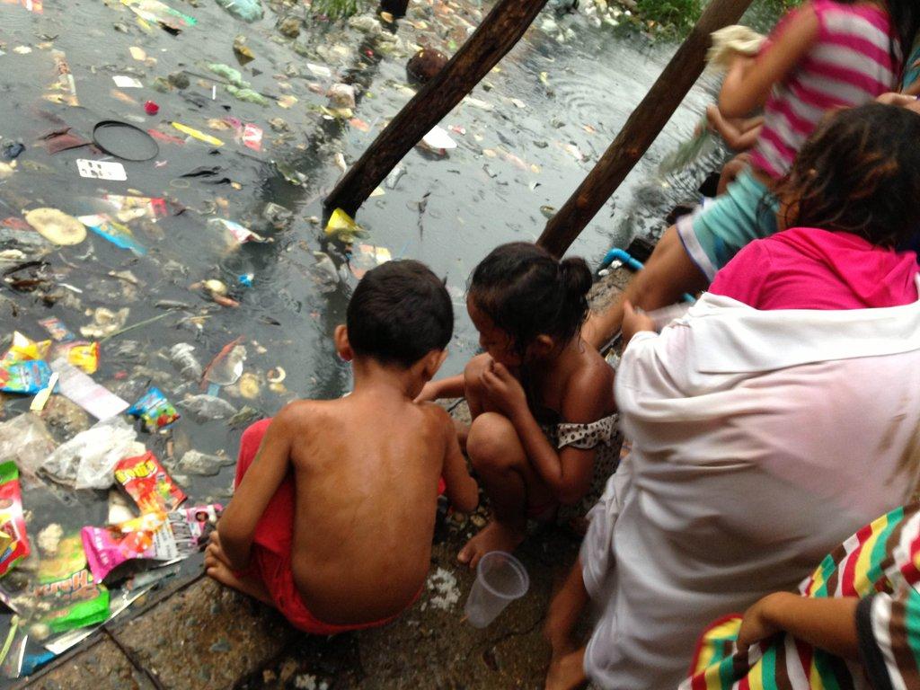 The slum area where our new families live