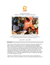 Niger Food Crisis 12-month update (PDF)
