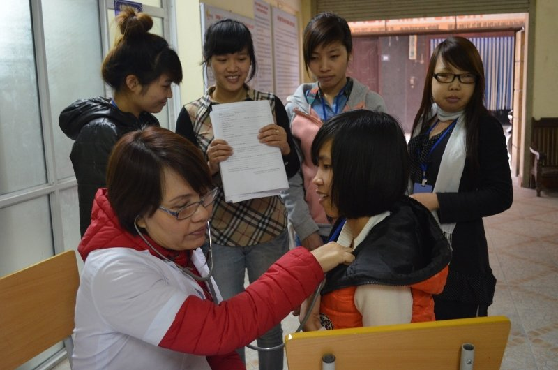 Students get a health check